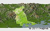 Physical Panoramic Map of Raoping, darken