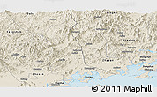 Shaded Relief Panoramic Map of Raoping