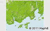 Physical 3D Map of Taishan