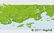 Physical Panoramic Map of Taishan