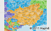 Political Shades 3D Map of Guangxi