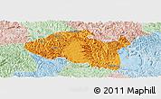 Political Panoramic Map of Bama, lighten