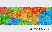 Political Panoramic Map of Bama