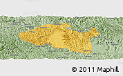 Savanna Style Panoramic Map of Bama