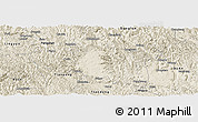 Shaded Relief Panoramic Map of Bama