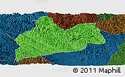 Political Panoramic Map of Bose, darken