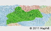 Political Panoramic Map of Bose, lighten