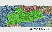 Political Panoramic Map of Bose, semi-desaturated