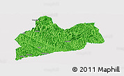 Political Panoramic Map of Bose, single color outside