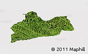 Satellite Panoramic Map of Bose, cropped outside