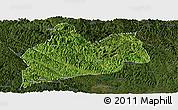 Satellite Panoramic Map of Bose, darken