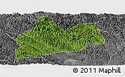 Satellite Panoramic Map of Bose, desaturated