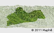 Satellite Panoramic Map of Bose, lighten