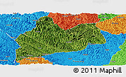 Satellite Panoramic Map of Bose, political outside
