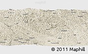 Shaded Relief Panoramic Map of Bose