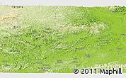 Physical Panoramic Map of Chongzuo