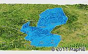 Political Panoramic Map of Chongzuo, satellite outside