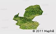Satellite Panoramic Map of Chongzuo, cropped outside