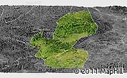 Satellite Panoramic Map of Chongzuo, desaturated