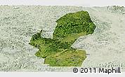 Satellite Panoramic Map of Chongzuo, lighten