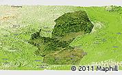 Satellite Panoramic Map of Chongzuo, physical outside