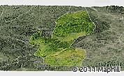 Satellite Panoramic Map of Chongzuo, semi-desaturated