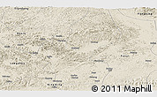 Shaded Relief Panoramic Map of Chongzuo