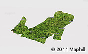 Satellite Panoramic Map of Daxin, cropped outside