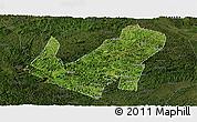 Satellite Panoramic Map of Daxin, darken