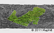 Satellite Panoramic Map of Daxin, desaturated