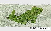 Satellite Panoramic Map of Daxin, lighten