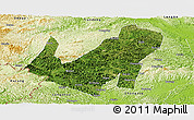 Satellite Panoramic Map of Daxin, physical outside