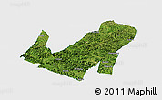 Satellite Panoramic Map of Daxin, single color outside