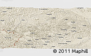 Shaded Relief Panoramic Map of Daxin