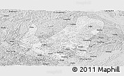 Silver Style Panoramic Map of Daxin