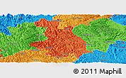 Political Panoramic Map of Donglan