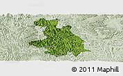 Satellite Panoramic Map of Donglan, lighten