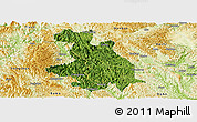 Satellite Panoramic Map of Donglan, physical outside