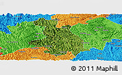 Satellite Panoramic Map of Donglan, political outside