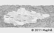 Gray Panoramic Map of Du An