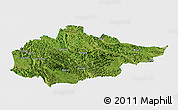 Satellite Panoramic Map of Du An, single color outside
