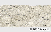 Shaded Relief Panoramic Map of Du An