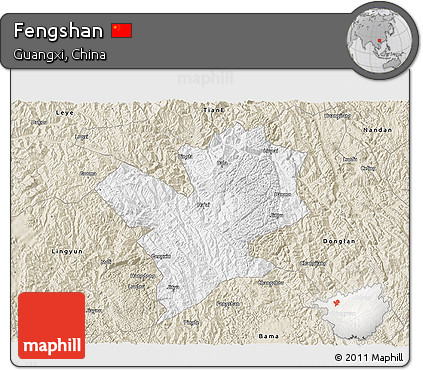 Classic Style 3D Map of Fengshan
