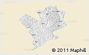Classic Style 3D Map of Fengshan, single color outside