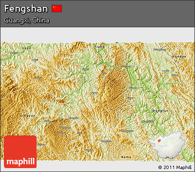 Physical 3D Map of Fengshan