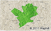 Political 3D Map of Fengshan, shaded relief outside