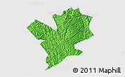 Political 3D Map of Fengshan, single color outside