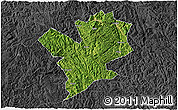Satellite 3D Map of Fengshan, darken, desaturated