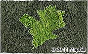 Satellite 3D Map of Fengshan, darken, semi-desaturated