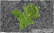 Satellite 3D Map of Fengshan, desaturated